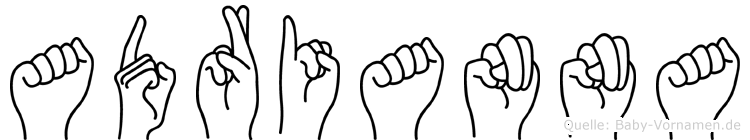 Adrianna in Fingersprache für Gehörlose