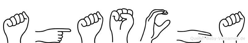 Agascha im Fingeralphabet der Deutschen Gebärdensprache