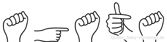 Agata im Fingeralphabet der Deutschen Gebärdensprache