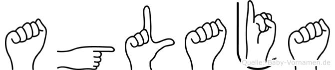 Aglaja im Fingeralphabet der Deutschen Gebärdensprache