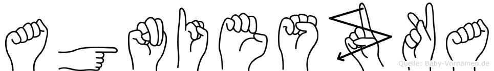 Agnieszka im Fingeralphabet der Deutschen Gebärdensprache