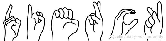 Dierck im Fingeralphabet der Deutschen Gebärdensprache
