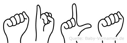 Aila in Fingersprache für Gehörlose
