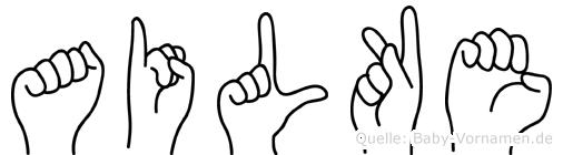 Ailke in Fingersprache für Gehörlose