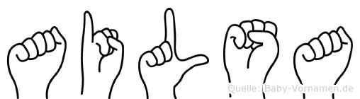 Ailsa in Fingersprache für Gehörlose