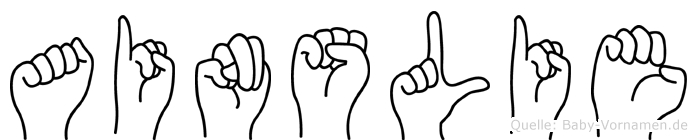 Ainslie in Fingersprache für Gehörlose