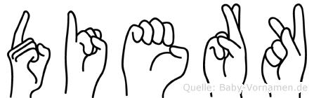 Dierk in Fingersprache für Gehörlose