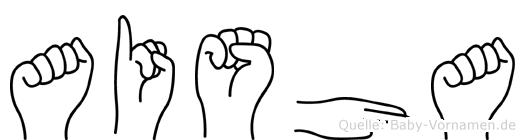 Aisha im Fingeralphabet der Deutschen Gebärdensprache