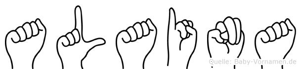 Alaina im Fingeralphabet der Deutschen Gebärdensprache