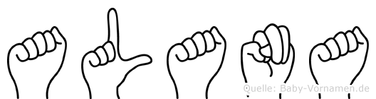 Alana im Fingeralphabet der Deutschen Gebärdensprache