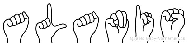 Alanis im Fingeralphabet der Deutschen Gebärdensprache