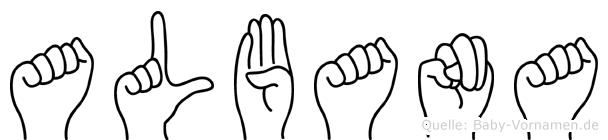 Albana in Fingersprache für Gehörlose