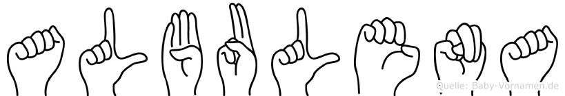 Albulena in Fingersprache für Gehörlose