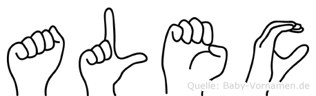 Alec in Fingersprache für Gehörlose