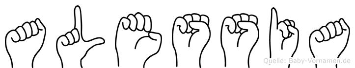 Alessia in Fingersprache für Gehörlose