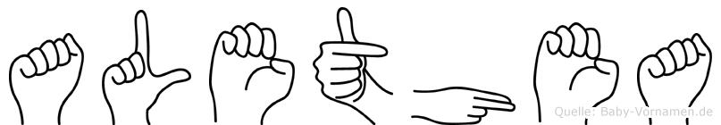 Alethea in Fingersprache für Gehörlose