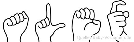 Alex in Fingersprache für Gehörlose