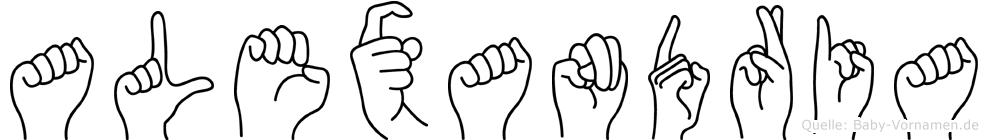 Alexandria in Fingersprache für Gehörlose