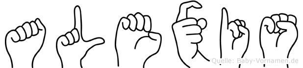 Alexis im Fingeralphabet der Deutschen Gebärdensprache