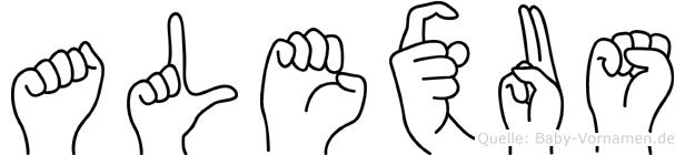 Alexus in Fingersprache für Gehörlose