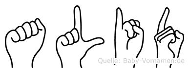 Alid in Fingersprache für Gehörlose