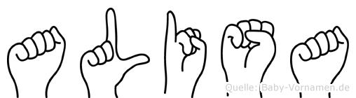 Alisa in Fingersprache für Gehörlose