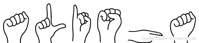 Alisha in Fingersprache für Gehörlose