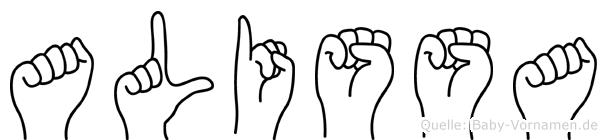 Alissa im Fingeralphabet der Deutschen Gebärdensprache