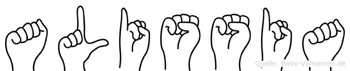 Alissia in Fingersprache für Gehörlose