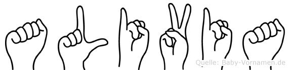 Alivia in Fingersprache für Gehörlose