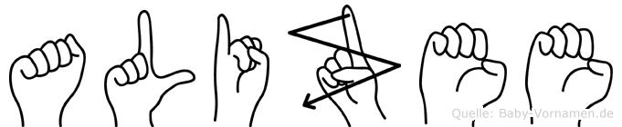 Alizee in Fingersprache für Gehörlose