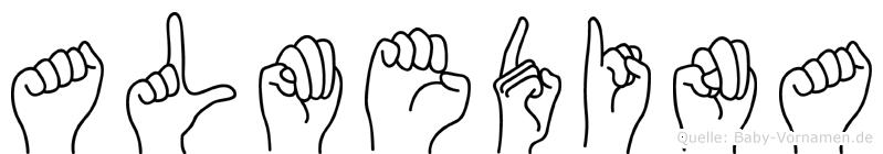 Almedina in Fingersprache für Gehörlose