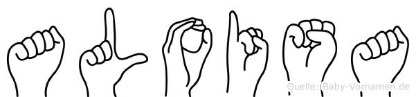 Aloisa in Fingersprache für Gehörlose