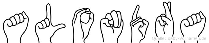 Alondra in Fingersprache für Gehörlose