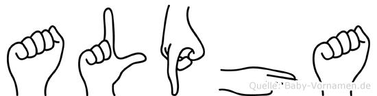 Alpha in Fingersprache für Gehörlose