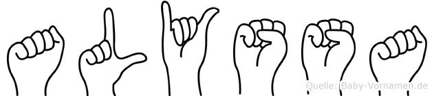 Alyssa in Fingersprache für Gehörlose