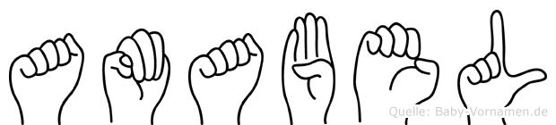 Amabel in Fingersprache für Gehörlose