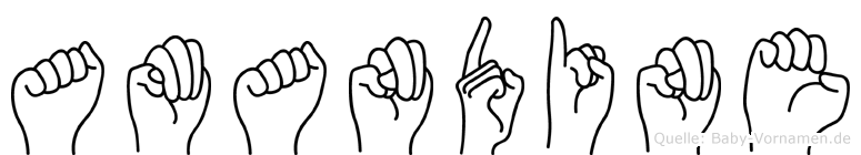 Amandine in Fingersprache für Gehörlose