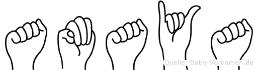 Amaya in Fingersprache für Gehörlose