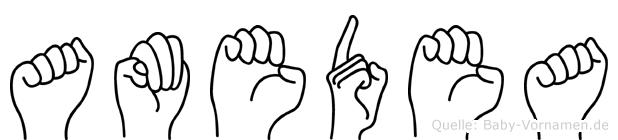 Amedea in Fingersprache für Gehörlose