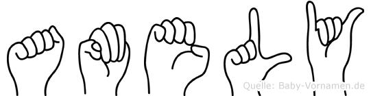 Amely in Fingersprache für Gehörlose