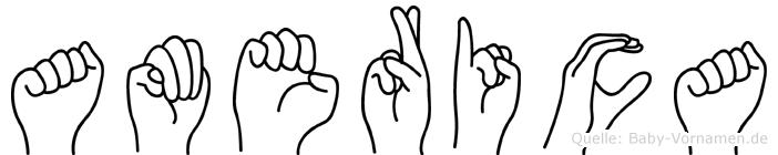 America in Fingersprache für Gehörlose
