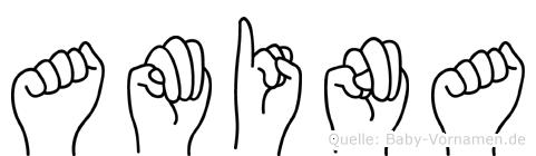 Amina in Fingersprache für Gehörlose