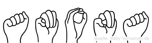 Amona in Fingersprache für Gehörlose