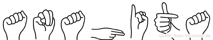Anahita im Fingeralphabet der Deutschen Gebärdensprache