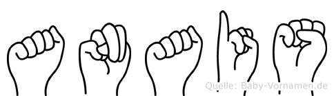 Anais im Fingeralphabet der Deutschen Gebärdensprache