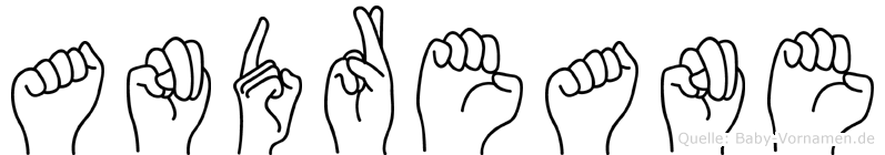 Andreane im Fingeralphabet der Deutschen Gebärdensprache