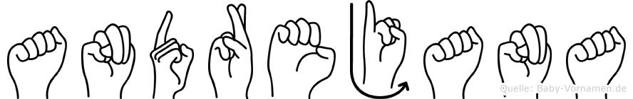 Andrejana im Fingeralphabet der Deutschen Gebärdensprache