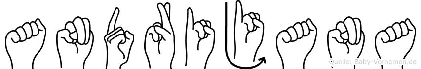 Andrijana im Fingeralphabet der Deutschen Gebärdensprache