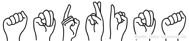 Andrina im Fingeralphabet der Deutschen Gebärdensprache